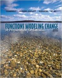 Connally Functions Modeling Change - Preparation for Calculus 4th txtbk