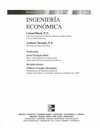 Ingeniería Económica - L. Blank, A. Tarkin - 6ed